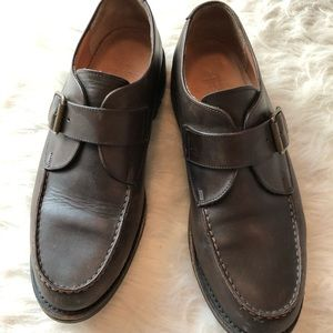 Polo Ralph Lauren leather buckle lug sole loafer
